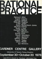 Jeffrey Steele artist exhibition catalogue cover Rational Practice University of Sussex 1978