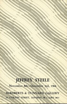 Jeffrey Steele artist exhibition catalogue cover McRoberts & Tunnard London 1966