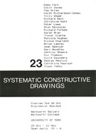Jeffrey Steele artist exhibition catalogue cover Systematic Constructive Drawings University of York 1986