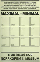 Jeffrey Steele artist exhibition catalogue cover Maximal-Minimal Helsinki 1979