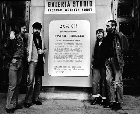 Jeffrey Steele artist System + Program exhibition Warsaw 1976